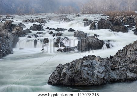 Great Falls National Park in Winter - Virginia USA