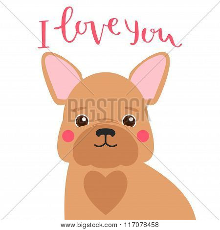 Cute French Bulldog Card