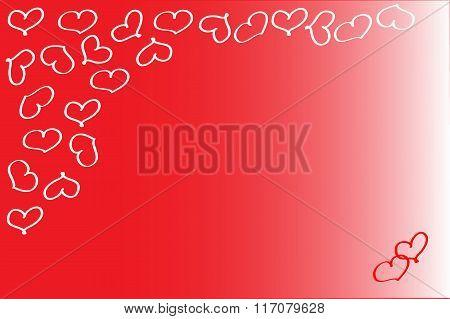 Energizing red valentine background