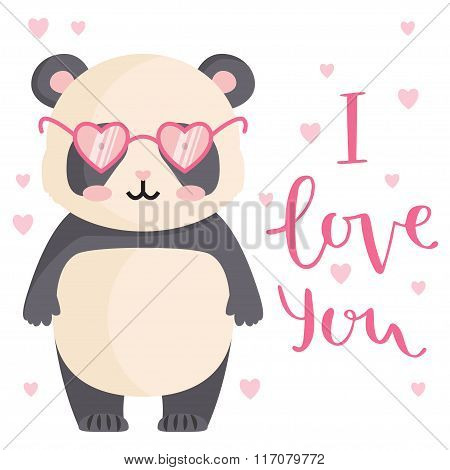Cute Greeting Card For Valentine's Day