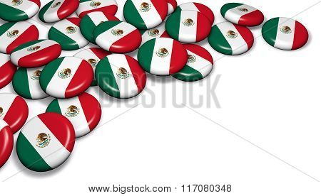 Mexico Flag Button Badges