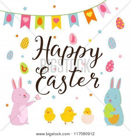 Happy Easter Design Elements Set