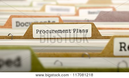Procurement Plans on Business Folder in Catalog.