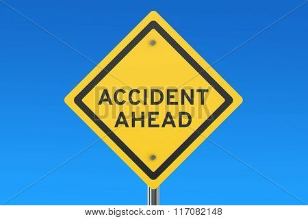 Accident Ahead Road Sign
