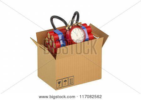 Timer Bomb In The Cardboard Box