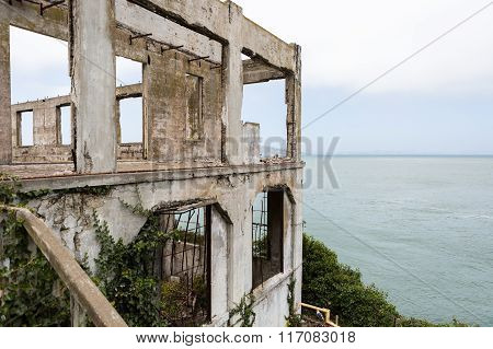 Exterior views of the Alcatraz Island in San Francisco