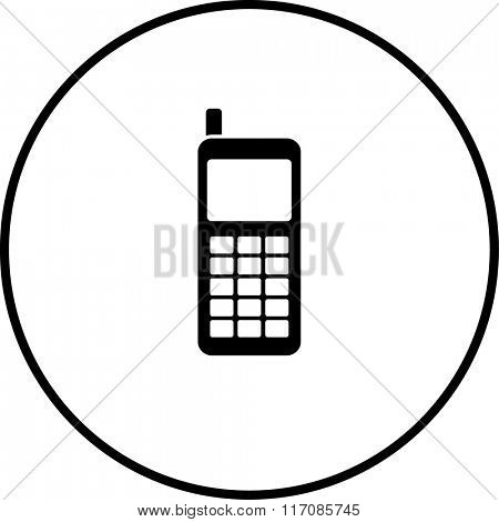 vintage mobile phone symbol