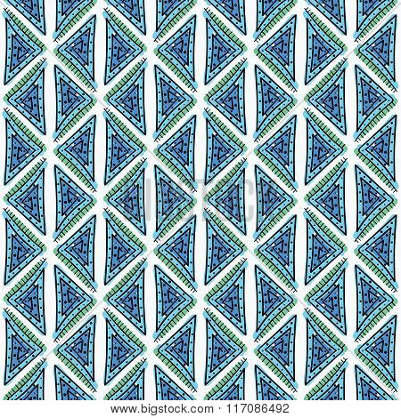 Abstract seamless hand drawn pattern.