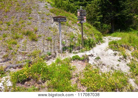 Signposts In The Dolomites