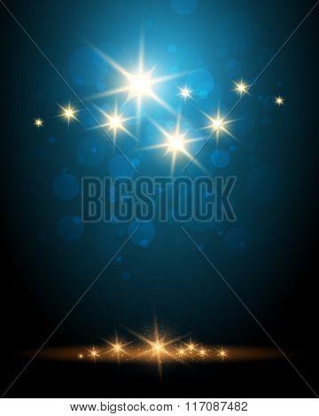 Shining Stars Colorful Background