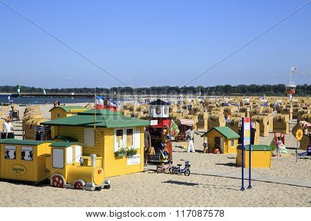 Travemuende, Baltic seacost, Gerrmany - June 8. Discovery one of the most popular German seaside resort and Germany's largest ferry port on the Baltic Sea on June 8, 2015, Travemuende, Gerrmany