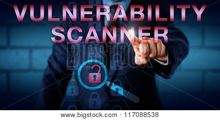 Administrator Touching Vulnerability Scanner