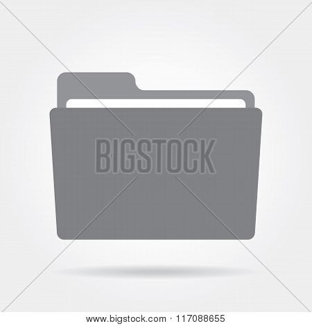 Folder icon on a white background.