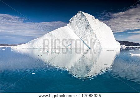 Massive Iceberg Floating Near Eqi Glacier, Greenland
