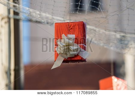 Hung Gift Boxes As Street Decoration 10