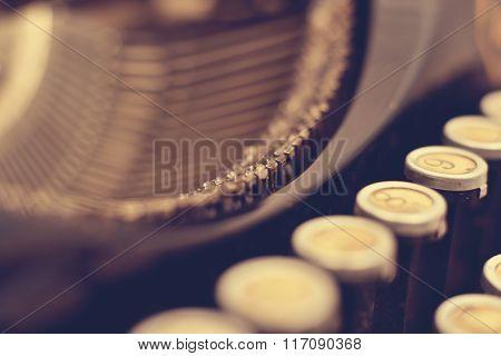 Details Of Vintage Typewriter