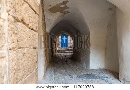 alley in old town of Jaffa Tel Aviv Israel