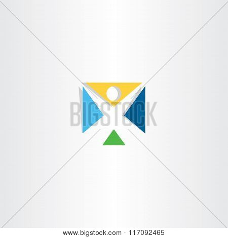 Logo Logotype Letter X Man Icon Vector