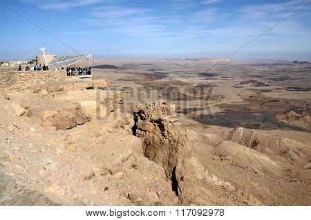 Observation Platform Above The Crater Ramon