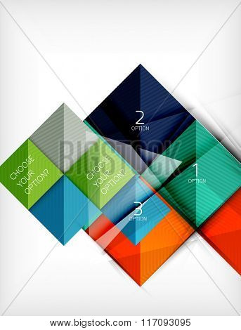 Paper square shapes banner