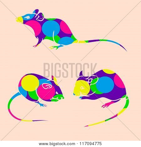 Rat, Mouse - Sketch, The Drawing In Color (balls 0)