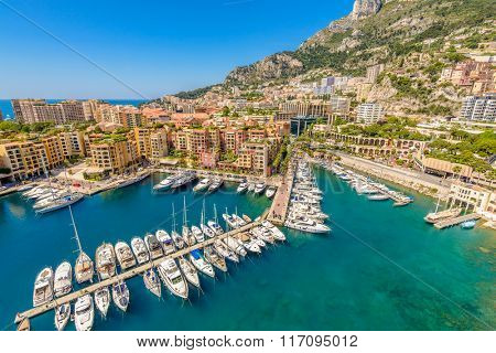 Luxury yachts in the bay of Monaco, France
