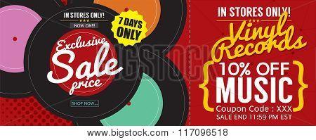 Vinyl Sale 500X600 Pixel Banner.