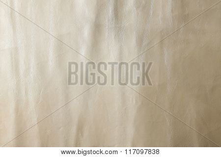 White leather texture with crumpled uneven surface