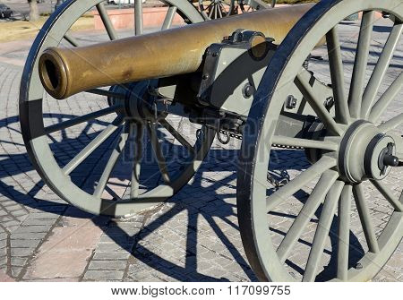 Vintage Civil War cannon in Denver Colorado