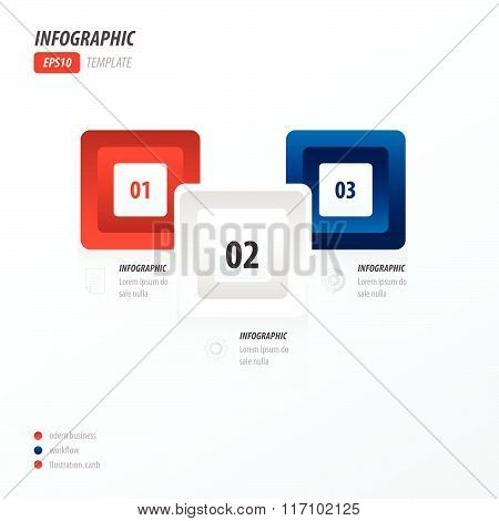 Infographics Four Rounded Rectangle   Red And Blue