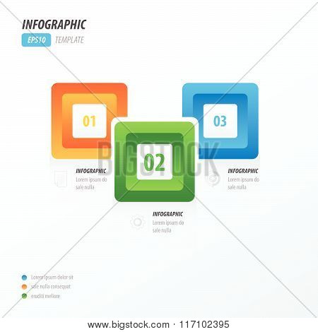 Infographics Four Rounded Rectangle Orange, Green, Blue