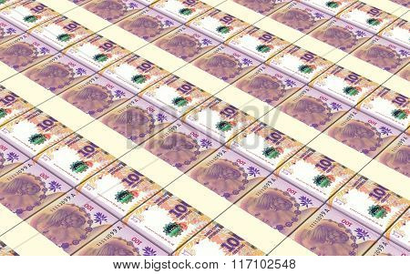 Argentina pesos bills stacks background. Computer generated 3D photo rendering.