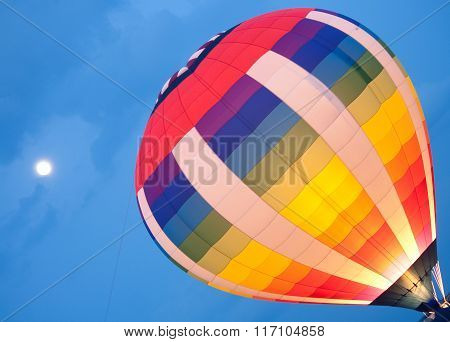 Hot Air Balloon Launch Lit Up