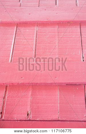 Pink Wood Texture on Vintage Crate