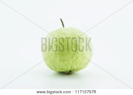 Fresh Guava Fruit On White Background.