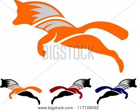 stock logo jump fox