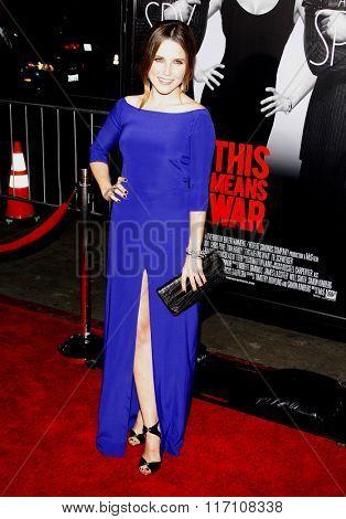 Sophia Bush at the Los Angles Premiere of