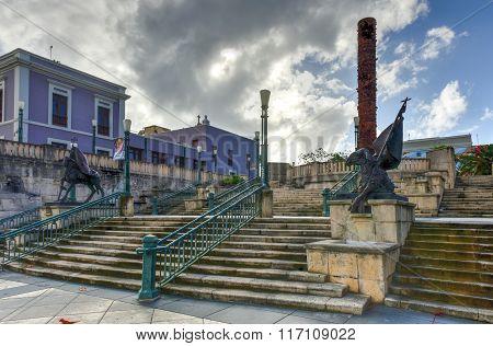 Plaza Of The Five Centuries - San Juan, Puerto Rico