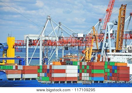 Cargo crane and container ship