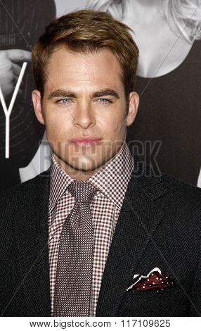 Chris Pine at the Los Angles Premiere of