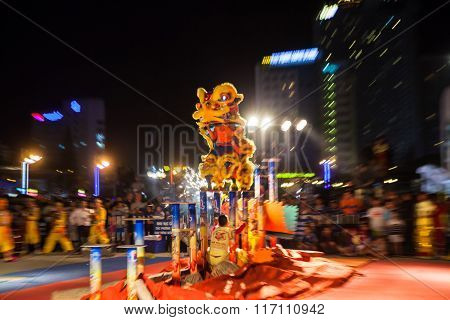 Lion dance show to celebrate Lunar New Year
