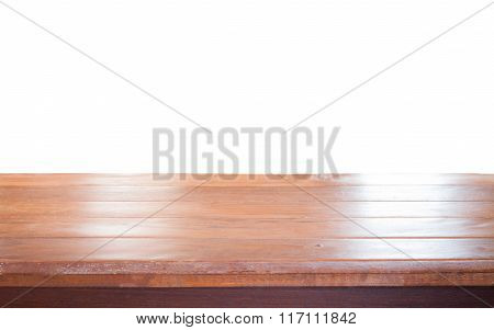 Old Empty Wooden Table Top