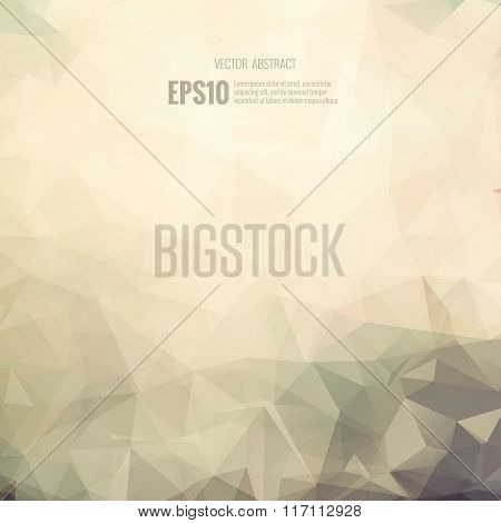 Abstract modern brown sepia background vector polygonal