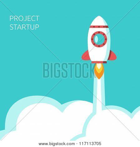 Rocket Above Clouds