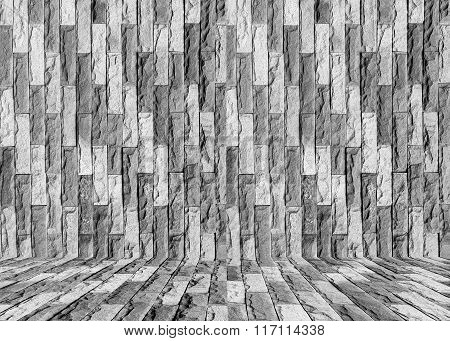 Vintage Stone Wall Texture Background.