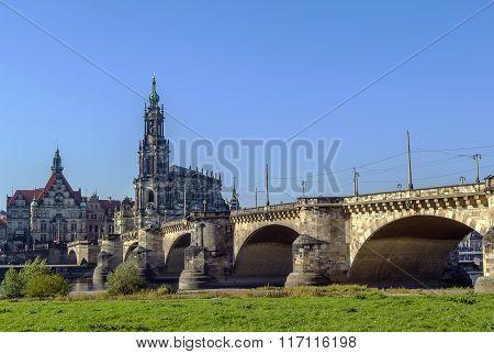 Augustus Bridge, Dresden, Germany