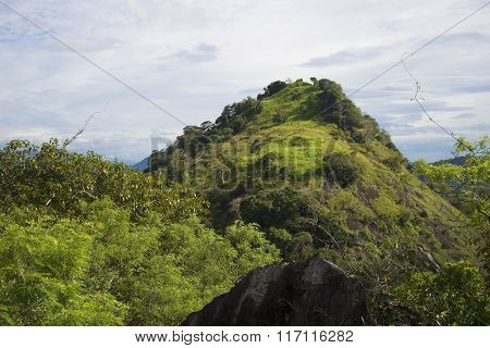 Mountain landscape after the rain. Ceylon