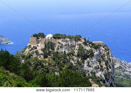 The castle of Monolithos in Rhodes Greece