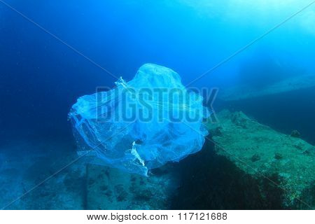 Environmental problem of plastic rubbish pollution in ocean