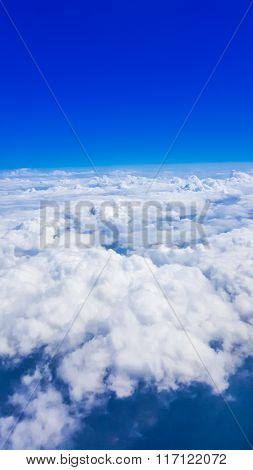 Cloud And Clear Blue Sky